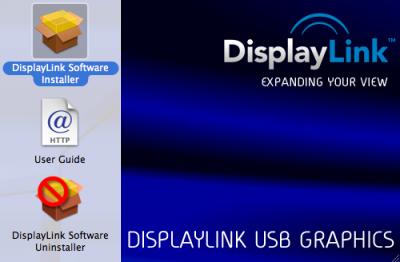DisplayLinkのMac用ドライバ