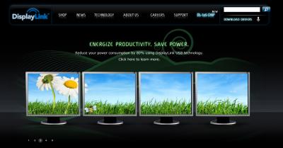 DisplayLink社のWebサイト