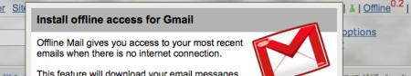 Google Gears Gmail