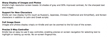 Kindle 3 Support for New Characters