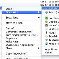 Macの「このアプリケーションで開く」「Open With」アプリが重複している場合の対処方法