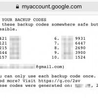 Googleアカウントの2段認証バックアップコードのダウンロード先