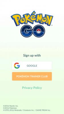 Pokemon Go login